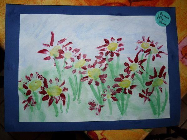 tableau fleurs maternelle