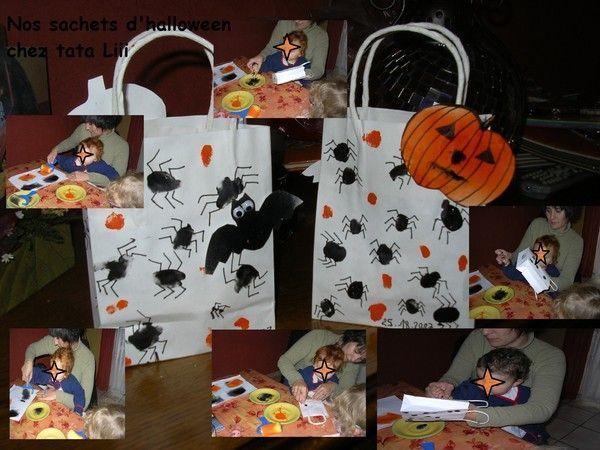 Petits sacs d 39 halloween centerblog Bricolage maternelle halloween